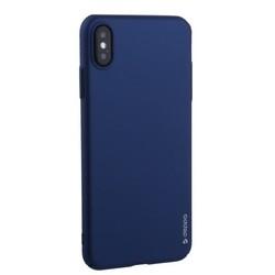 "Чехол-накладка пластик Soft touch Deppa Air Case D-83367 для iPhone XS Max (6.5"") 1мм Синий"