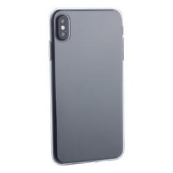 """Чехол силиконовый для iPhone XS Max (6.5"""") уплотненный в техпаке (прозрачный)"""