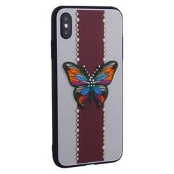 "Накладка силиконовая TOTU Butterfly Love Series -019 для iPhone XS Max (6.5"") Бабочка Red"