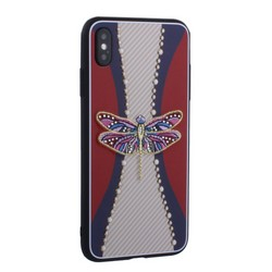 "Накладка силиконовая TOTU Dancing Dragonfly Series -020 для iPhone XS Max (6.5"") Стрекоза Purple"