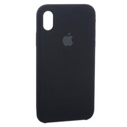 """Чехол-накладка силиконовый Silicone Case для iPhone XR (6.1"""") Black черный №18"""