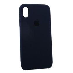 "Чехол-накладка силиконовый Silicone Case для iPhone XR (6.1"") Midnight Blue Темно-синий №8"