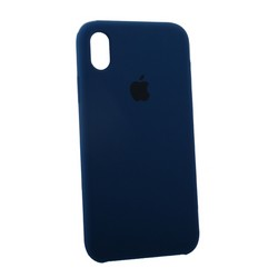 """Чехол-накладка силиконовый Silicone Case для iPhone XR (6.1"""") Blue Cobalt Темный кобальт №29"""