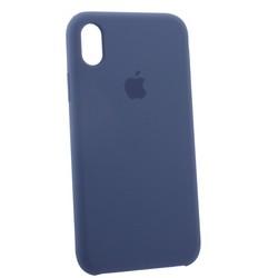 """Чехол-накладка силиконовый Silicone Case для iPhone XR (6.1"""") Dark Lilac Темно-сиреневый №46"""