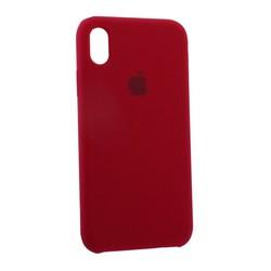 """Чехол-накладка силиконовый Silicone Case для iPhone XR (6.1"""") Rose Red Малиновый №30"""
