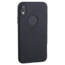 """Чехол силиконовый Hoco Delicate Shadow Series для iPhone XR (6.1"""") Черный"""