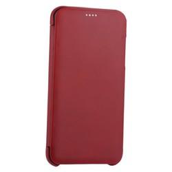 Чехол-книжка кожаный i-Carer для iPhone XS Max (6.5) Curved Edge (округлые края) Vintage Series (RI902-RD) Красный