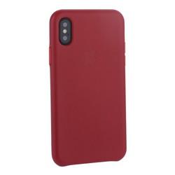 "Чехол-накладка кожаная Leather Case для iPhone XS/ X (5.8"") Red Красный"