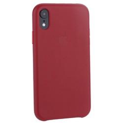 """Чехол-накладка кожаная Leather Case для iPhone XR (6.1"""") Red Красный"""