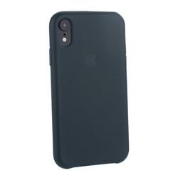"""Чехол-накладка кожаная Leather Case для iPhone XR (6.1"""") Forest Green Темно-зеленый"""