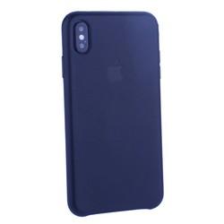 "Чехол-накладка кожаная Leather Case для iPhone XS Max (6.5"") Black Черный"