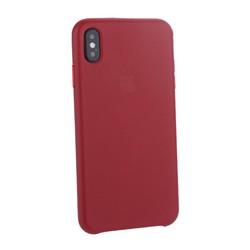 "Чехол-накладка кожаная Leather Case для iPhone XS Max (6.5"") Red Красный"