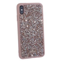 """Чехол-накладка силиконовая со стразами SWAROVSKI Crystalline для iPhone XS Max (6.5"""") Светло-коричневый"""