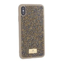 """Чехол-накладка силиконовая со стразами SWAROVSKI Crystalline для iPhone XS Max (6.5"""") Оливковый"""