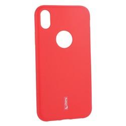 """Чехол-накладка силиконовый Cherry матовый 0.4mm & пленка для iPhone XR (6.1"""") Красный"""