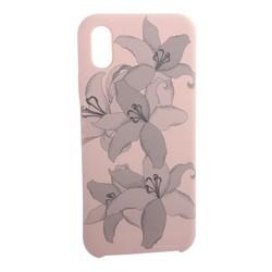 """Чехол-накладка силиконовый Silicone Cover для iPhone XS/ X (5.8"""") Орхидея Светло-коралловый"""