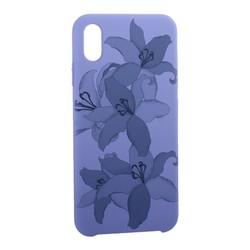 """Чехол-накладка силиконовый Silicone Cover для iPhone XS Max (6.5"""") Орхидея Сиреневый"""