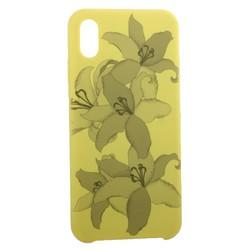 """Чехол-накладка силиконовый Silicone Cover для iPhone XS Max (6.5"""") Орхидея Желтый"""