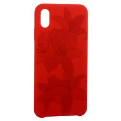 """Чехол-накладка силиконовый Silicone Cover для iPhone XS Max (6.5"""") Орхидея Красный"""