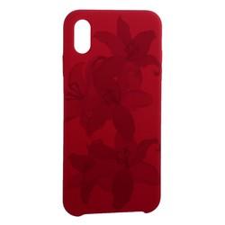 """Чехол-накладка силиконовый Silicone Cover для iPhone XS Max (6.5"""") Орхидея Бордово-фиолетовый"""
