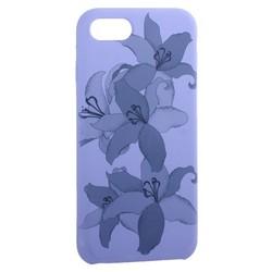 """Чехол-накладка силиконовый Silicone Cover для iPhone 8/ 7 (4.7"""") Орхидея Сиреневый"""