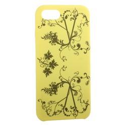"""Чехол-накладка силиконовый Silicone Cover для iPhone SE (2020г.)/ 8/ 7 (4.7"""") Узор Желтый"""