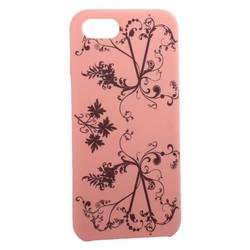 """Чехол-накладка силиконовый Silicone Cover для iPhone 8/ 7 (4.7"""") Узор Розовый"""