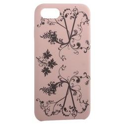 """Чехол-накладка силиконовый Silicone Cover для iPhone 8/ 7 (4.7"""") Узор Светло-коралловый"""