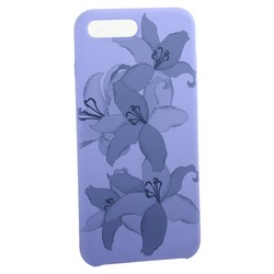 """Чехол-накладка силиконовый Silicone Cover для iPhone 8 Plus/ 7 Plus (5.5"""") Орхидея Сиреневый"""