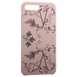 """Чехол-накладка силиконовый Silicone Cover для iPhone 8 Plus/ 7 Plus (5.5"""") Узор Светло-коралловый"""