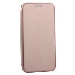 """Чехол-книжка кожаный Innovation Case для iPhone XS/ X (5.8"""") Розовое золото"""