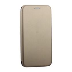 """Чехол-книжка кожаный Innovation Case для iPhone XS/ X (5.8"""") Золотой"""