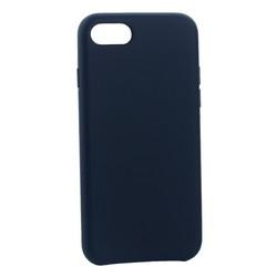 "Чехол-накладка кожаная Leather Case для iPhone SE (2020г.)/ 8/ 7 (4.7"") Dark Blue-Синий"