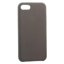"""Чехол-накладка кожаная Leather Case для iPhone 8/ 7 (4.7"""") Taupe - Бежевый"""