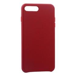 """Чехол-накладка кожаная Leather Case для iPhone 8 Plus/ 7 Plus (5.5"""") Red - Красный"""