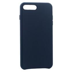 "Чехол-накладка кожаная Leather Case для iPhone 8 Plus/ 7 Plus (5.5"") Dark Blue - Синий"