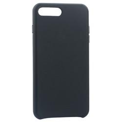 """Чехол-накладка кожаная Leather Case для iPhone 8 Plus/ 7 Plus (5.5"""") Charcoal gray- Угольно серый"""