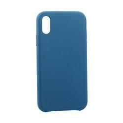 """Чехол-накладка кожаная Leather Case для iPhone XR (6.1"""") Blue Голубой"""