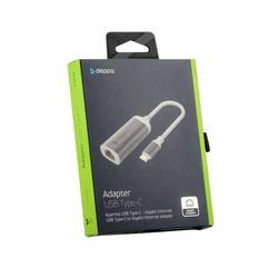 Переходник Deppa USB Type-C - Gigabit Ethernet (D-73119) Графитовый