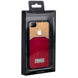 Чехол-накладка с яблоком для iPhone 4S/ 4 красная