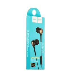 Наушники Hoco M19 Drumbeat Universal Earphone with mic (1.2 м) с микрофоном Black Черные