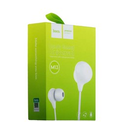 Наушники Hoco M13 Candy Universal Earphones with mic (1.2 м) с микрофоном White Белые