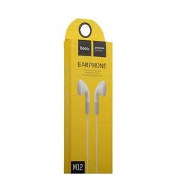 Наушники Hoco M12 Flat Ear Universal Earphones with mic (1.2 м) с микрофоном White Белые