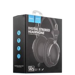 Наушники Hoco W5 Manno headphone (1.2 м) Black Черные
