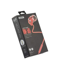 Наушники Remax RM-585 Metal Touching Earphone Red Красные