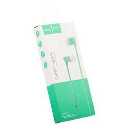 Наушники Hoco M27 Warbler Universal Earphones with mic (1.2 м) с микрофоном Green Зеленые