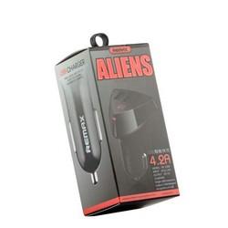 Разделитель автомобильный Remax RCC304 Aliens Series Car charger max 4.2A (3USB) - Черный
