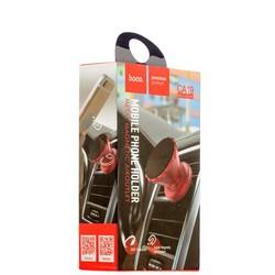 Автомобильный держатель Hoco CA19 Metal magnetic air outlet mobile phone holder - магнитный универсальный в решетку красный