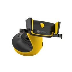Автомобильный держатель COTEetCI ST-13 для смартфонов (ST3113-BY) универсальный с присоской (ширина 95mm) Черный/ желтый