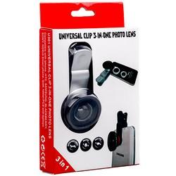 Объектив клипса универсальная universal clip 3 in-one photo lens 0.4x серебристый